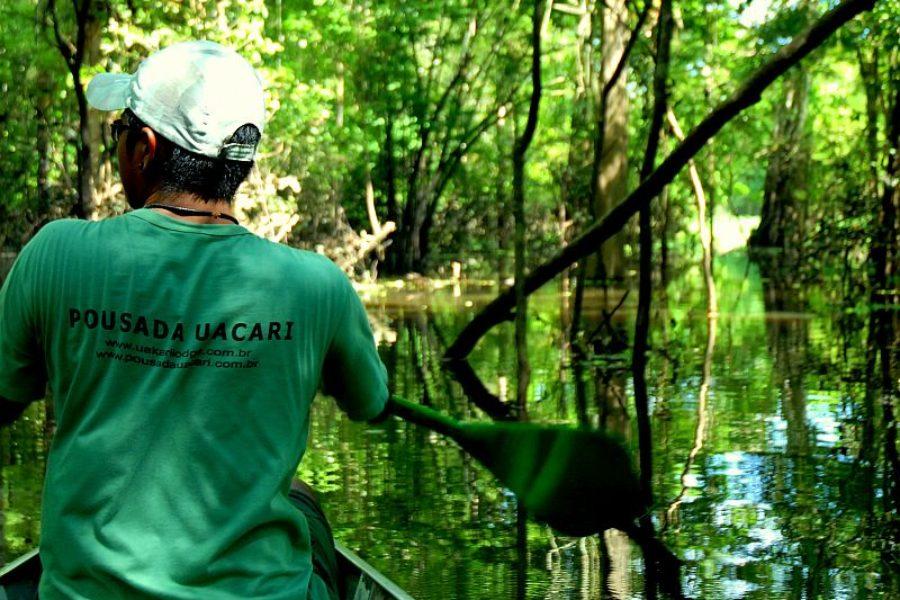Kanufahrt Uacari Lodge Amazonas