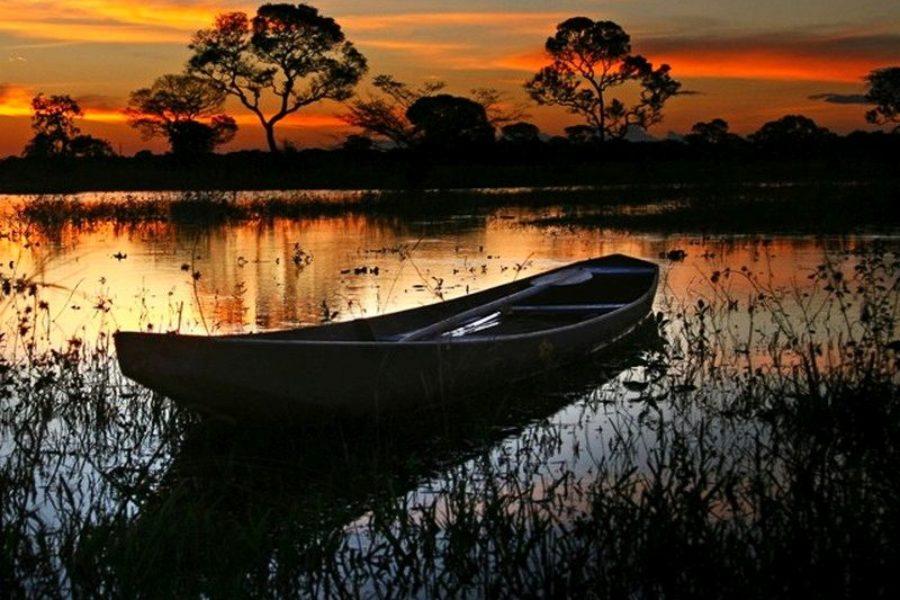 Sonnenuntergang Pantanal Rio Claro Pousada GloboTur