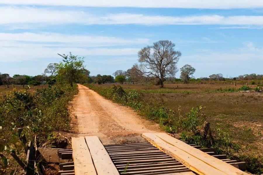 Transpantaneira Parkstrasse Rio Claro Pantanal GloboTur