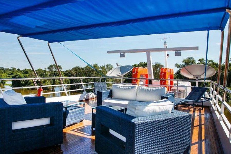 Kreuzfahrt Pantanal Lounge Bar Minas Do Pantanal GloboTur