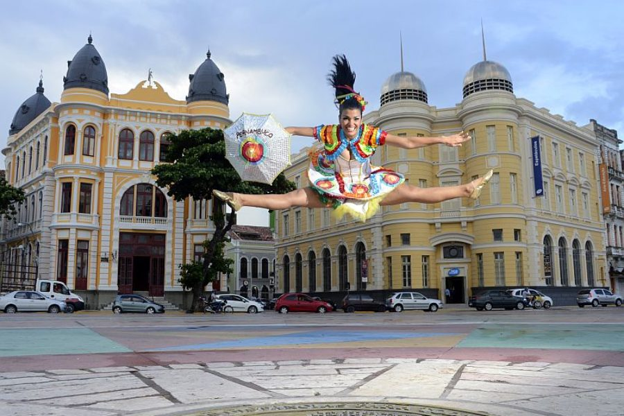 Frevo Recife Altstadt Marco Zero Empetur GloboTur