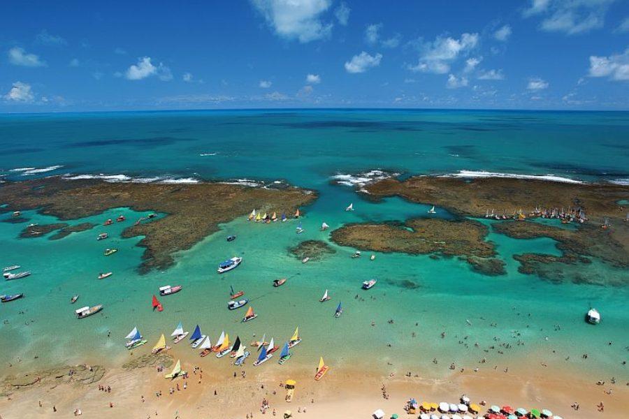 Porto de Galinhas Pools Schwimmbecken im Meer Recife Empetur GloboTur